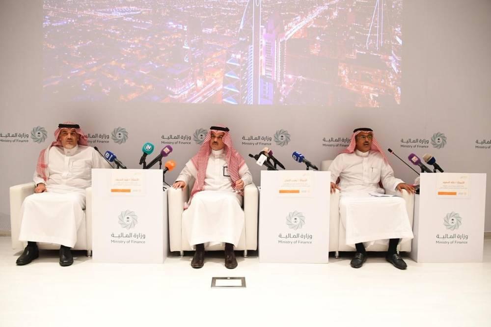 جانب من المؤتمر الصحفي الذي عقد امس في الرياض «الوطن»