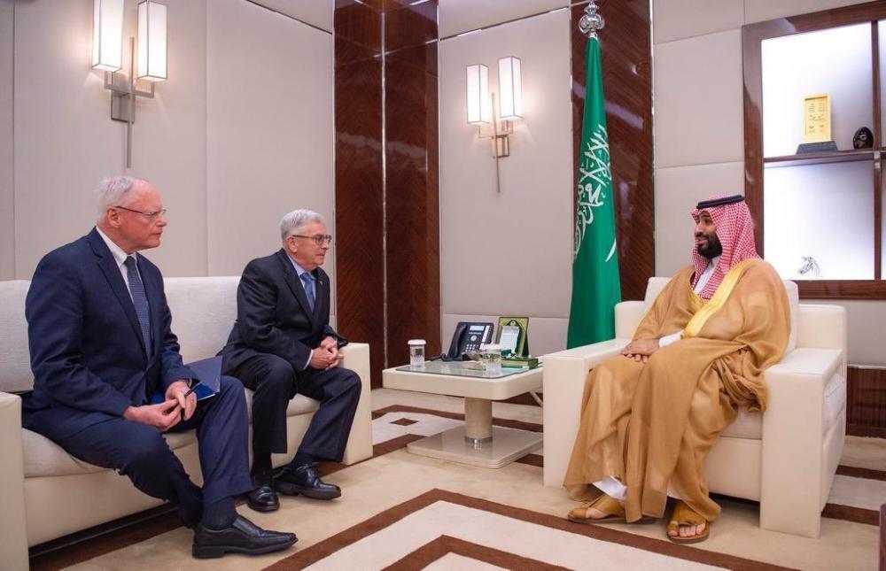 ولي العهد يلتقي مبعوث الرئيس الأميركي للشأن السوري