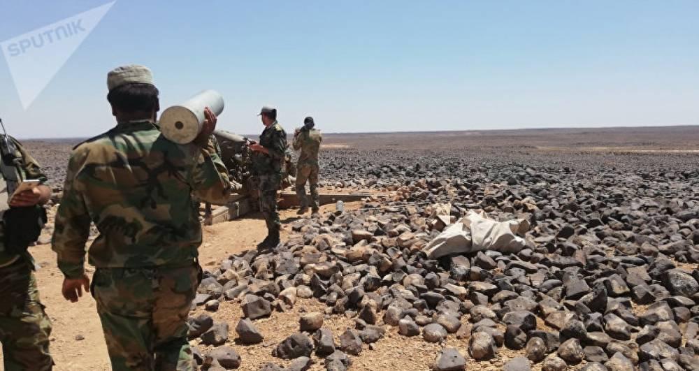 عناصر من القوات الإيرانية في سورية ( الوطن)