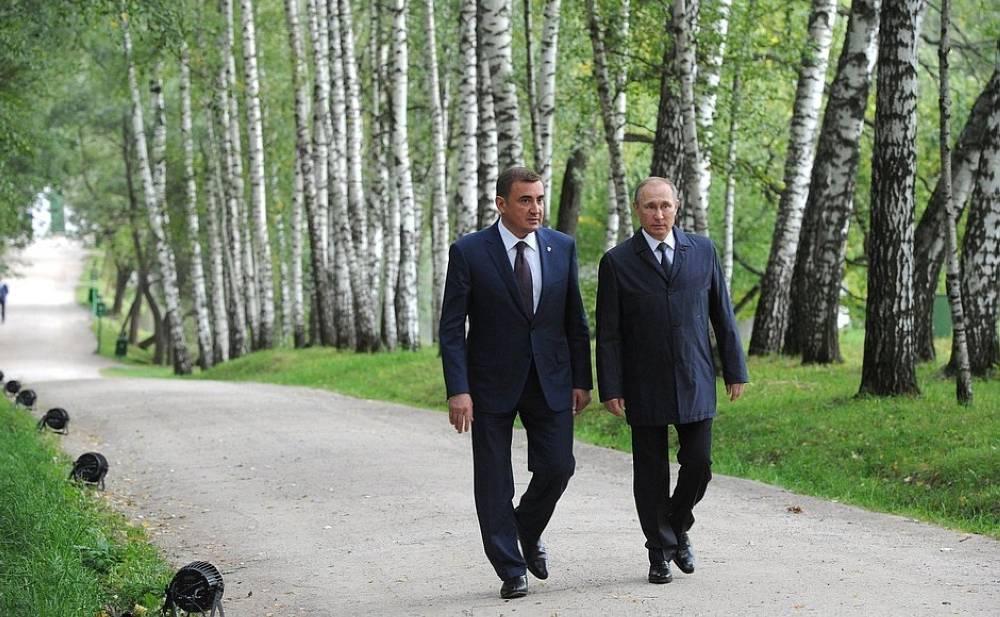 بوتين مع حارسه الشخصي السابق ألكسي ديومين