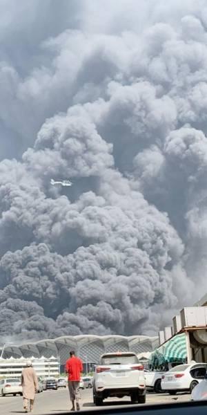 حريق محطة قطار الحرمين يوقف الرحلات مؤقتا جريدة الوطن