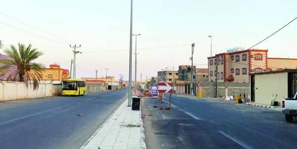 الشارع الذي شهد حادثة دهس الطالبين في حي الأثايبة