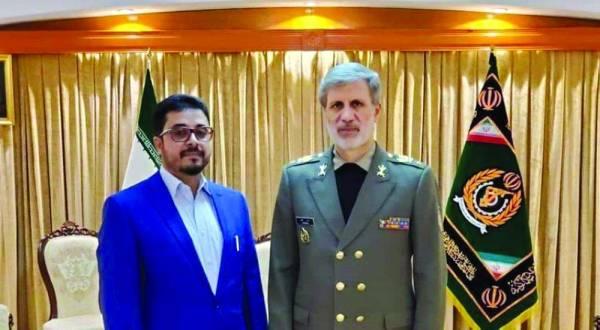 الديلمي مع وزير الدفاع الإيراني