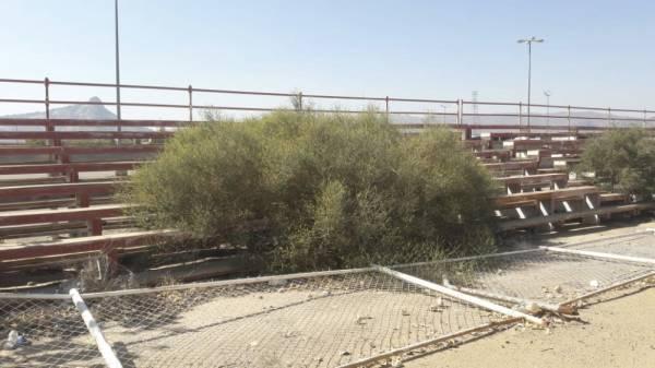مقر نادي نجران المتهالك (تصوير: احمد بالحارث)