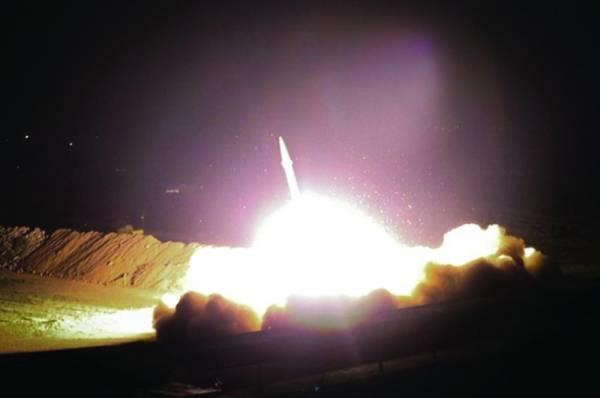صورة نشرت لهجوم إيراني على قوات أمريكية في العراق