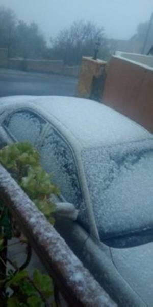 من الثلوج التي تساقطت على الأردن