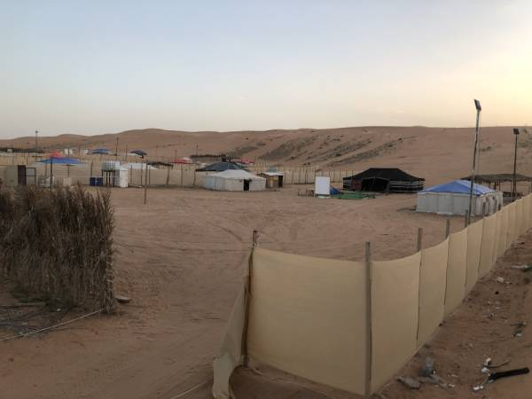 أحد المخيمات بالرياض