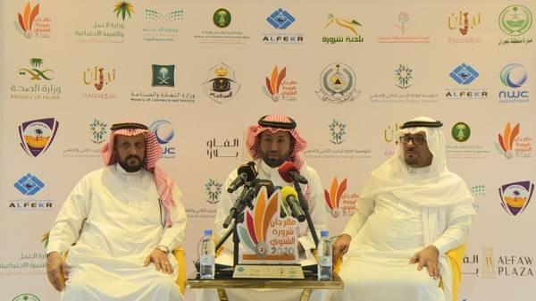 المؤتمر الصحفي الذي عقدته اللجنة الإعلامية للمهرجان (الوطن)