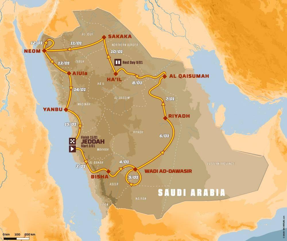 موعد بدء سباقات رالي «داكار - السعودية 2021»