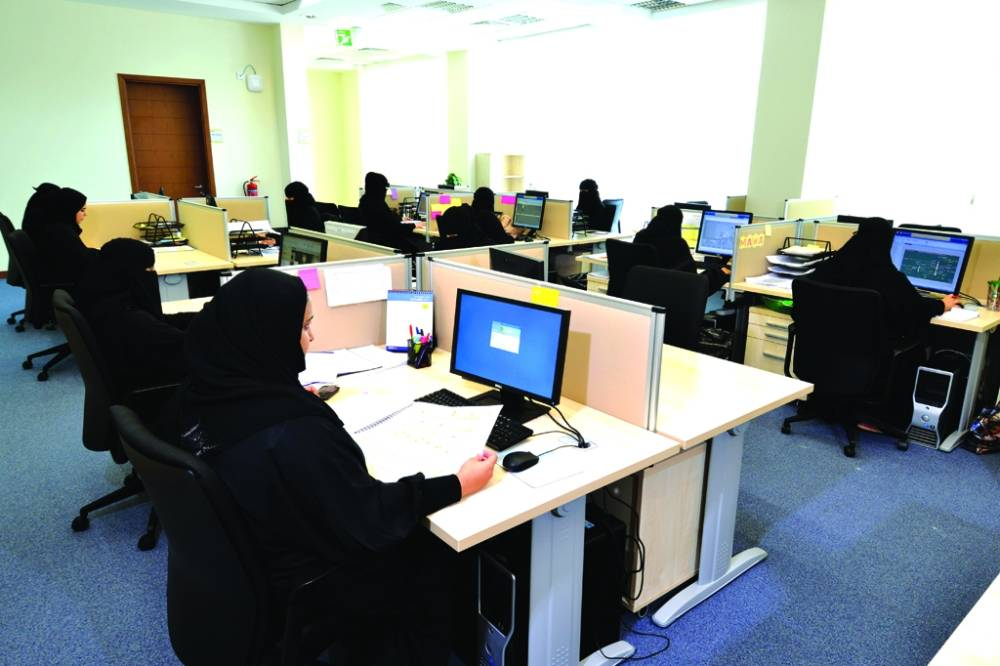 موظفات في القطاع الخاص