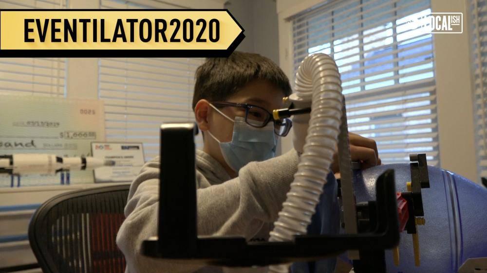 طفل يصنع جهاز تنفس من قطع لعبة ليجو