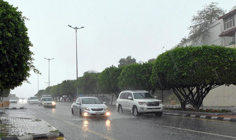 من أمطار عسير أمس