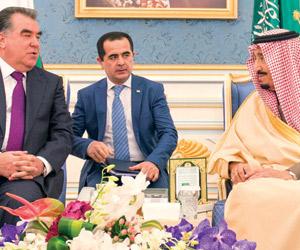 خادم الحرمين ورئيس طاجيكستان يعقدان جلسة محادثات