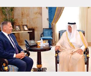 الفيصل يستقبل القنصل العام البريطاني