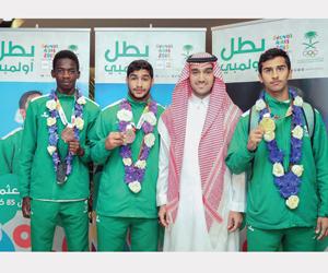 الفيصل يستقبل أبطال الأولمبياد