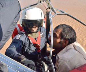 طيران الأمن ينقذ 9 محتجزين والدفاع المدني يغلق 7 ط