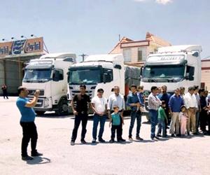 إضراب سائقي الشاحنات في 290 مدينة إيرانية