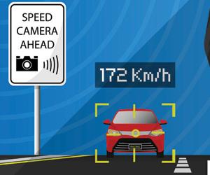104 كاميرات رصد للسرعة  في كل ألف كلم2