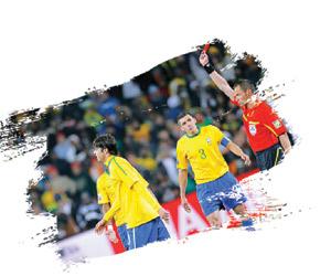 11 بطاقة حمراء تضع البرازيل الأخشن