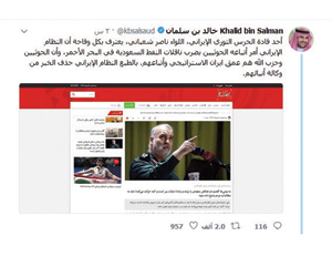 خالد بن سلمان: إيران وراء ضرب ناقلات نفط سعودية
