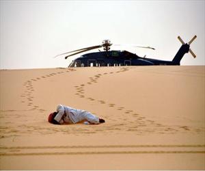 طيران الأمن يعثر على جثة قطري وزوجته في صحراء الرب