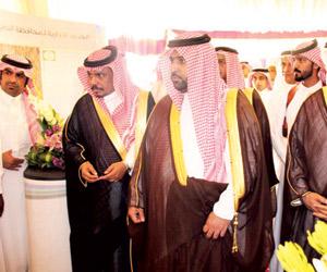 محمد بن عبدالعزيز يتفقد مشاريع محطة التوليد بالدرب