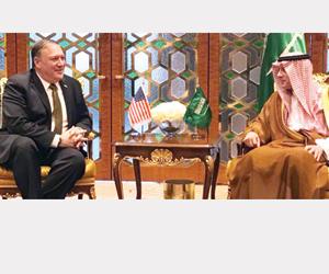 الجبير وبومبيو يبحثان ملفات اليمن وإيران