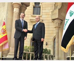 الملك الإسباني في بغداد والبرلمان يدعم مكافحة الفس