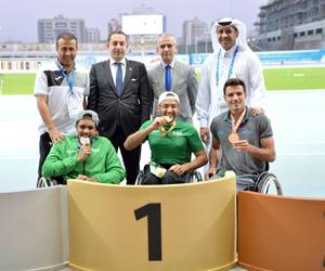 4 ميداليات لأخضر قوى الاحتياجات الخاصة