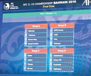 الأخضر الشاب في أولى المجموعات الآسيوية