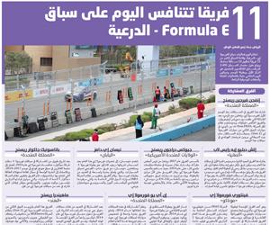 11 فريقا تتنافس اليوم على سباق Formula E - الدرعية
