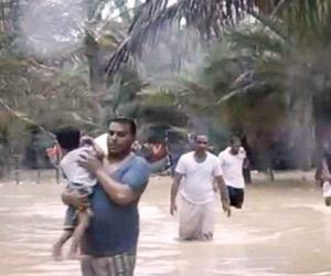 غرق سفينة بسقطرى بسبب إعصار ماكونو