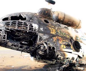 نجاة نائب الرئيس السوداني واحتراق طائرته