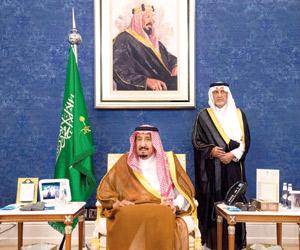 خادم الحرمين يستقبل المعزين في وفاة الأمير عبدالرح