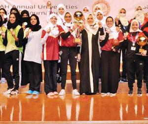 انطلاق دورة ألعاب جامعات المملكة للطالبات