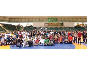 مركز الرياض يحقق بطولة المصارعة