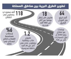 120 مليار ريال استثمارات المملكة في النقل البري