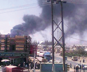 التحالف يدمر مواقع إطلاق الصواريخ الحوثية بقاعدة ا