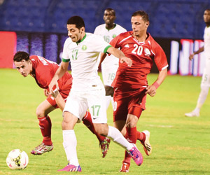 نقل مباراة الأخضر وفلسطين إلى أرض محايدة