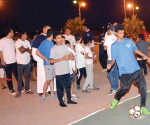 500 مشارك في الأنشطة الرياضية بأبوعريش
