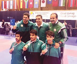 3 ميداليات دولية للكاراتيه السعودي