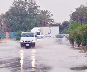 5 مناطق سجلت أمطارا تفوق 100 ملم