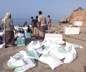 مركز الملك سلمان يقدم مساعدات لسكان الفشت وبكلان ا
