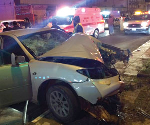 حوادث بالجملة في الباحة وسقوط جدار ارتفاعه 7 أمتار