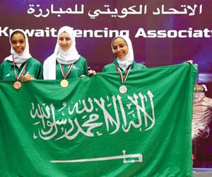 أخضر المبارزة النسائي يضيف الميدالية السابعة