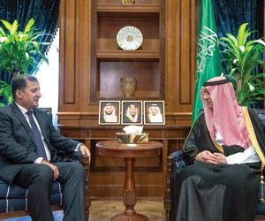 الجبير يلتقي تيرنر وسفيري طاجكستان والسودان