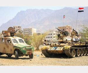 مقاتلات التحالف تدمر منصة صواريخ حوثية بجبل هيلان