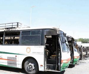 إيقاف 7 متهمين في حريق حافلات شركة بمكة