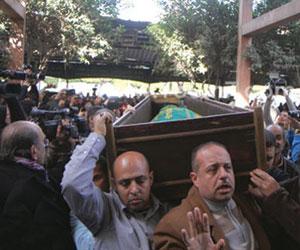 تشييع ممدوح عبدالعليم وسط حالة حزن شديدة