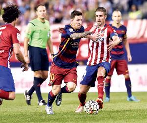 برشلونة وأتلتيكو مدريد في موقعة الصدارة